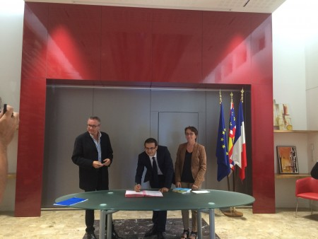 Signature Convention Mairie Longvic